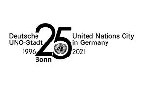 Bonn 25 Jahre UN Logo